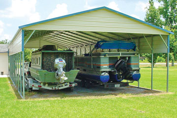 2 boat carport to protect your boats from weathering elements.