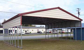RV shelters have the ability to house large vehicles