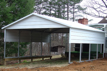 Build, price, and purchase metal carports in Woodstock, VA