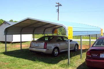 Design, Price, and Purchase Metal Carports in Jacksonville, NC