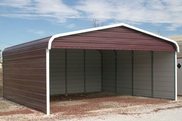 EZCarports delivers partially enclosed metal carports to Strasburg Virginia