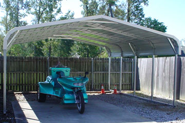 Single carports are a quality and affordable option to protect your vehicle
