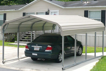 Single wide carports one car carports ezcarports 1 car carport