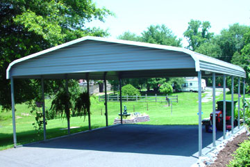 Sun Smiling on Metal Carports in Kinston NC