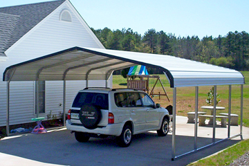 Steel metal carports available now in Newport News