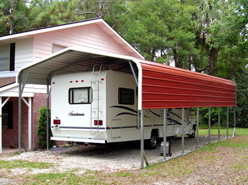 Are wooden or metal sheds better rv shed designs free rv Motorhome carport plans
