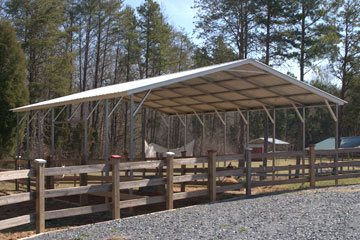 Metal carports with fast delivery and installation in Emporia Virginia