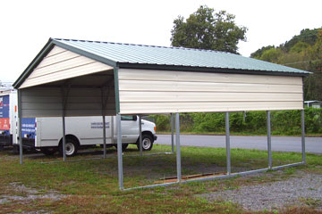 Steel Carport With Half Walls And Gable Portable ...
