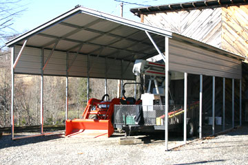 A metal carport can house any equimpent of valuable belongings