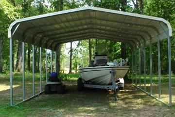 Ez carports for Boat garage kits